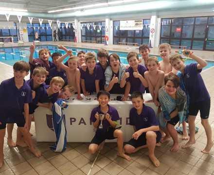 Purple club winners of the 2018 Year 5 & 6 club swim gala